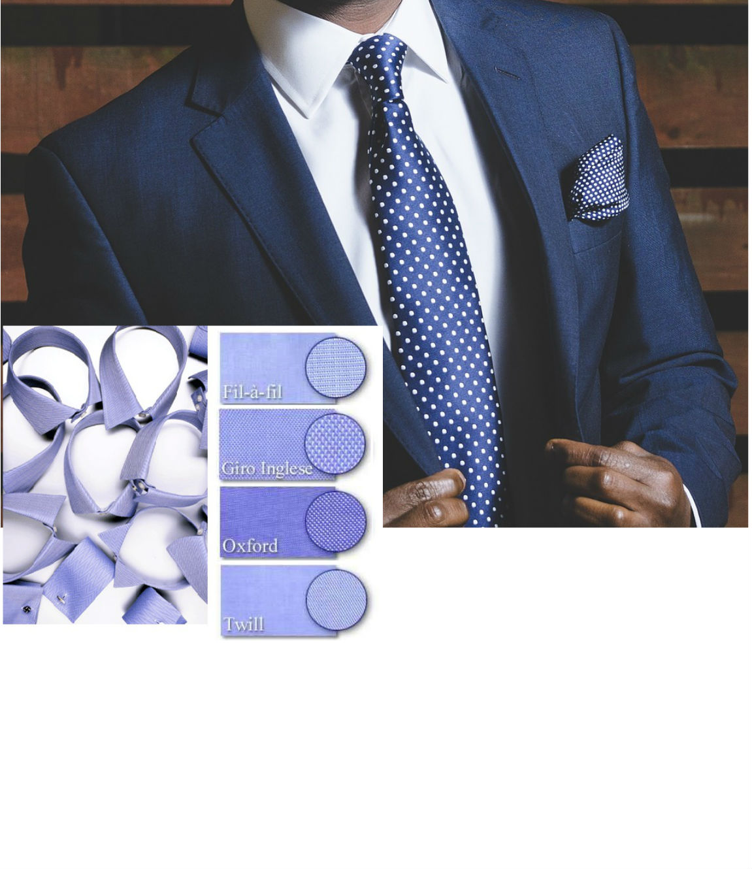 El cliente define las opciones de personalización de la prenda: decide el tejido, el estilo, el color, los bolsillos, el cuello,...